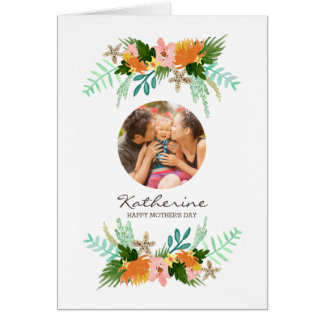 Coastline Floral Mother's Day Card