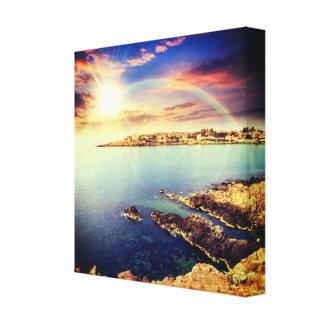 Coastline of Bulgaria Wrapped Canvas Print