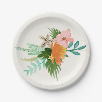 Coastline Wedding 7 Inch Paper Plate