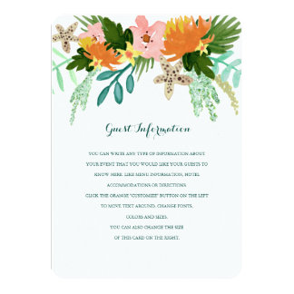 Coastline Wedding Insert 11 Cm X 16 Cm Invitation Card