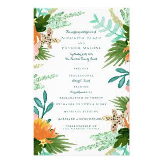 Coastline Wedding Programs Flyer