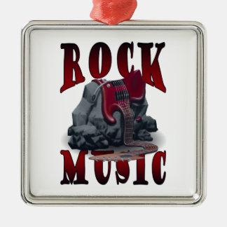 Coat Music Silver-Colored Square Decoration
