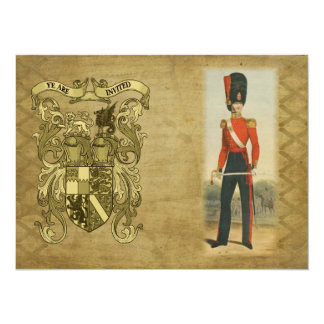Coat of Arms and Victorian Guard 14 Cm X 19 Cm Invitation Card