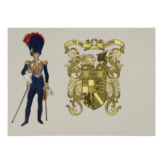 Coat of Arms and Victorian Guard Custom Announcement