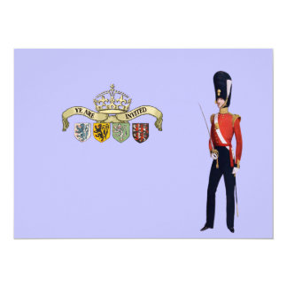 Coat of Arms and Victorian Guard 5.5x7.5 Paper Invitation Card