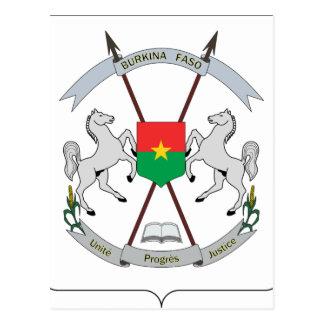 Coat of Arms Burkina Faso - Armoiries Burkina Faso Postcard