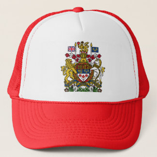 coat of arms canada trucker hat