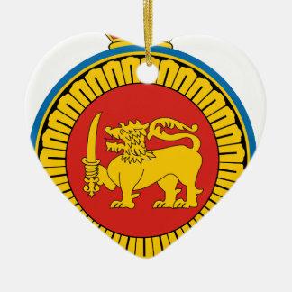 Coat_of_Arms_Ceylon_dominion Ceramic Heart Decoration