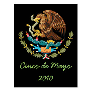 Coat of Arms Cinco de Mayo 2010 Postcard 1