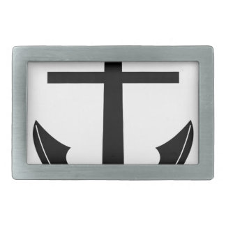 Coat Of Arms Crest Flag Swiss Key Emblem Anchor Rectangular Belt Buckle
