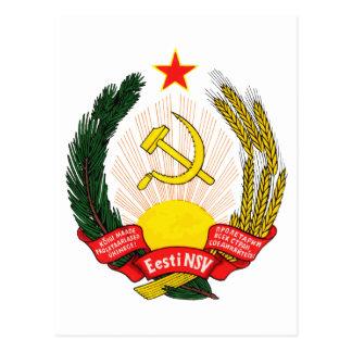 Coat of arms Estonia Official Heraldry symbol Postcard