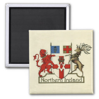Coat-Of-Arms for Northern Ireland Square Magnet