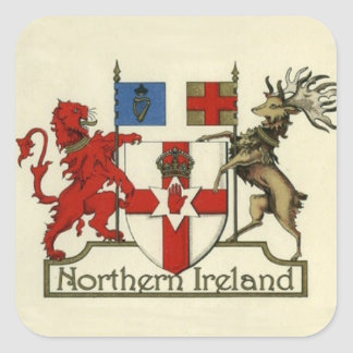 Coat of Arms for Northern Ireland Square Sticker