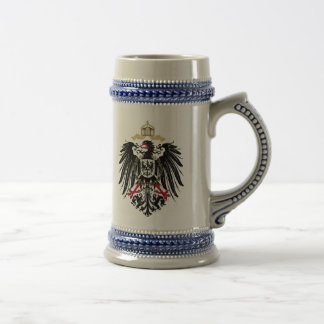 Coat of arms German Reich of 1889 realm eagles Beer Stein