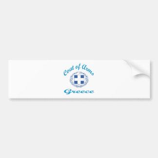 Coat Of Arms Greece Bumper Sticker