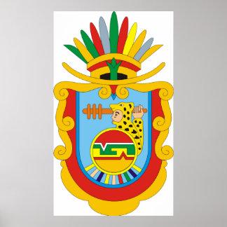 Coat of arms Guerrero Mexico Official Symbol Logo Poster