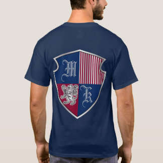 Coat of Arms Heraldry Emblem Silver Lion Shield T-Shirt