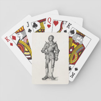 Coat of Arms Knight Shining Armor Sword Medieval Playing Cards