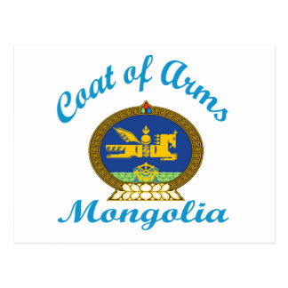 Coat Of Arms Mongolia Postcard