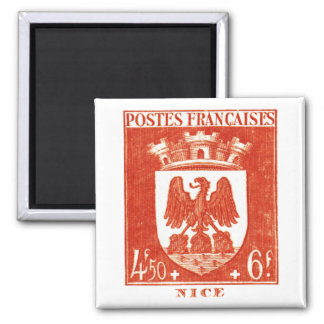 Coat of Arms, Nice France Square Magnet
