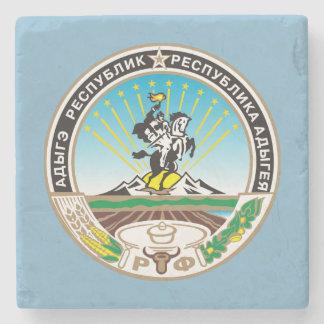Coat of arms of Adygea Stone Coaster