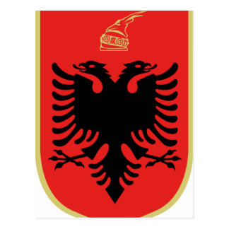 Coat of Arms of Albania Postcard