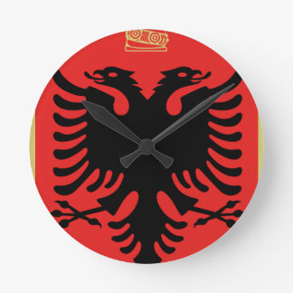 Coat of Arms of Albania Round Clock