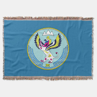Coat of arms of Altai Throw Blanket