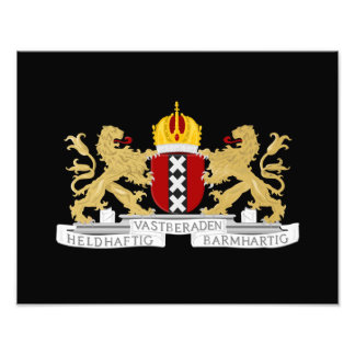 Coat of arms of Amsterdam Photo Print