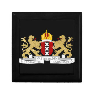 Coat of arms of Amsterdam Small Square Gift Box