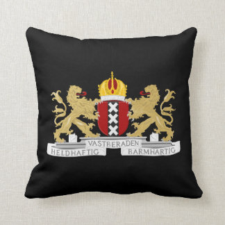 Coat of arms of Amsterdam Throw Pillow
