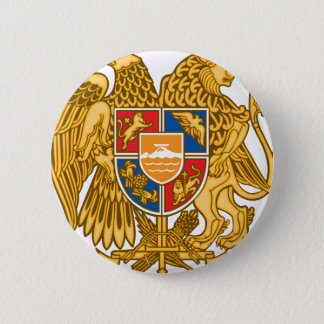 Coat of arms of Armenia - Armenian Emblem 6 Cm Round Badge