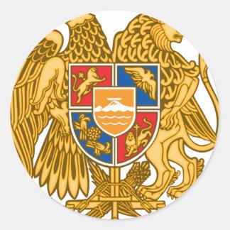 Coat of arms of Armenia - Armenian Emblem Classic Round Sticker