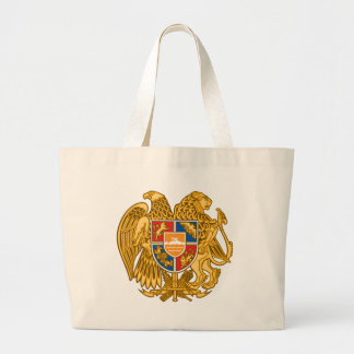 Coat of arms of Armenia - Armenian Emblem Large Tote Bag