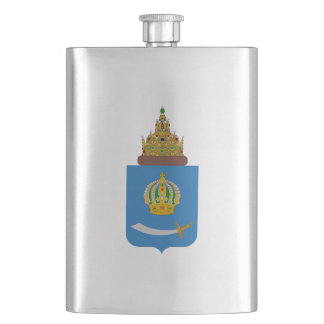 Coat of arms of Astrakhan oblast Hip Flask