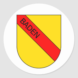 Coat of arms of Baden with writing Classic Round Sticker