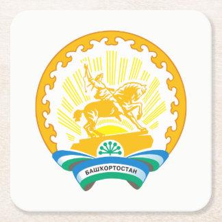 Coat of arms of Bashkortostan Square Paper Coaster