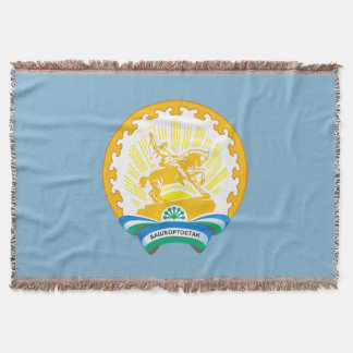 Coat of arms of Bashkortostan Throw Blanket