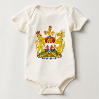 Coat_of_Arms_of_British_Hong_Kong Baby Bodysuit