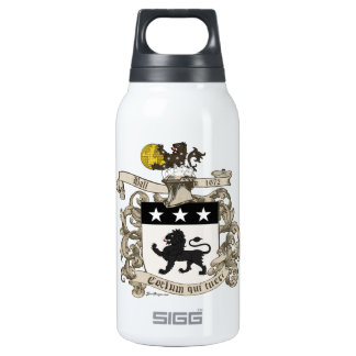 Coat of Arms of Colonel William Ball of Virginia. Insulated Water Bottle