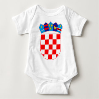 Coat of arms of Croatia, Croatian Emblem, Hrvatska Baby Bodysuit