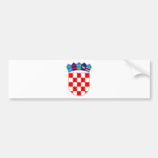 Coat of arms of Croatia, Croatian Emblem, Hrvatska Bumper Sticker