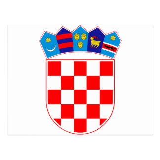 Coat of arms of Croatia, Croatian Emblem, Hrvatska Postcard