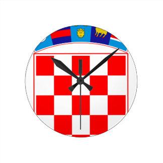 Coat of arms of Croatia, Croatian Emblem, Hrvatska Round Clock