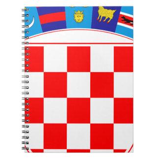 Coat of arms of Croatia, Croatian Emblem, Hrvatska Spiral Notebook