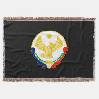 Coat of arms of Dagestan Throw Blanket