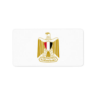 Coat of Arms of Egypt,شعار مصر,علم مصر, Address Label