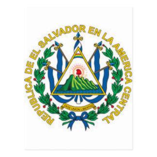 Coat of Arms of El Salvador Post Card