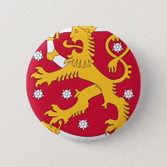Coat of Arms of Finland - Suomen Vaakuna 6 Cm Round Badge