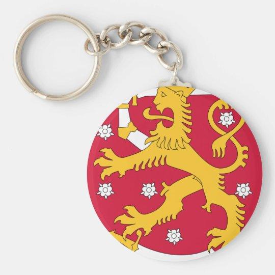 Coat of Arms of Finland - Suomen Vaakuna Basic Round Button Key Ring